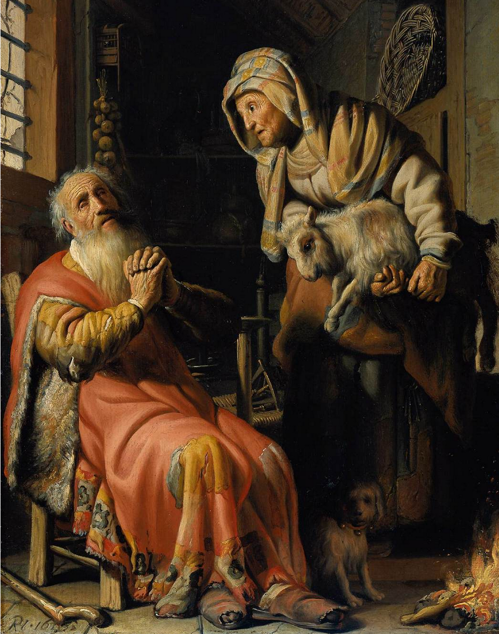 Tobit and Anna - Young Rembrandt, Ashmolean